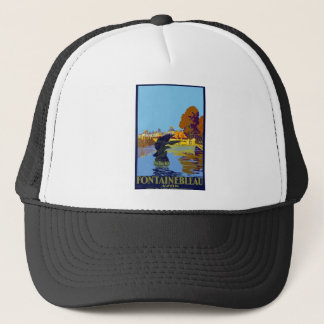 Vintage Travel Fontainebleau Paris France Trucker Hat