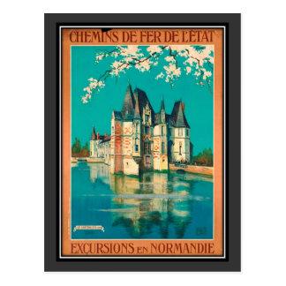 Vintage travel France, Normandy - Postcard
