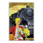 Vintage Travel Germany by Train Ad Posters