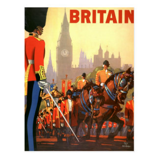 Vintage Travel, Great Britain England, Royal Guard Postcard