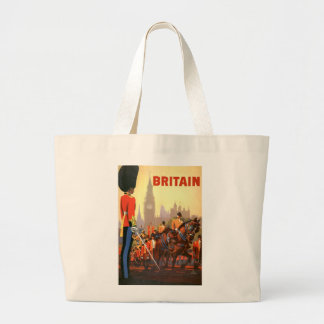 Vintage Travel, Great Britain England, Royal Guard Jumbo Tote Bag