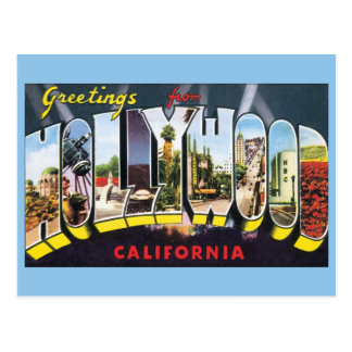 Vintage Travel Greetings from Hollywood California Postcard