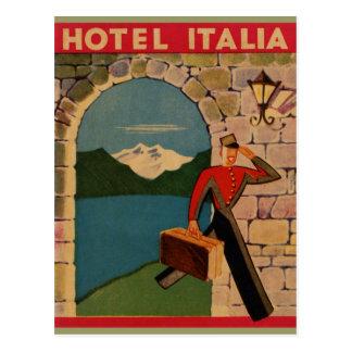 Vintage Travel - Hotel Italia Postcard