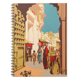 Vintage Travel India Notebook