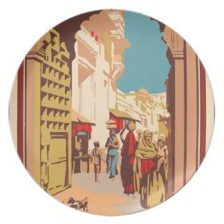 Vintage Travel India Plate