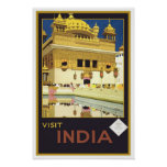 Vintage travel,India Poster