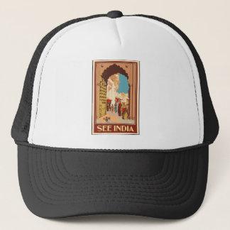 Vintage Travel India Trucker Hat