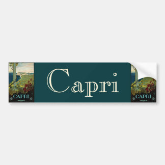 Vintage Travel, Isle of Capri, Italy Italia Coast Bumper Sticker