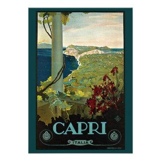 Vintage Travel Isle of Capri Italy Italia Coast Cards