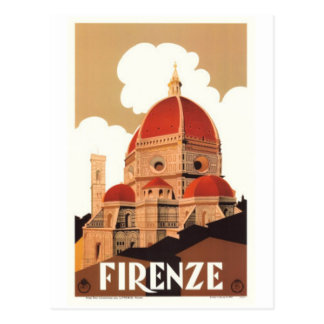 Vintage travel Italy, Florence - Postcard