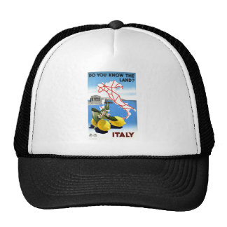Vintage Travel Italy Hat