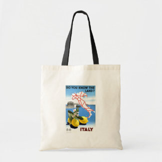 Vintage Travel Italy Budget Tote Bag