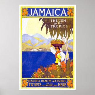 Vintage travel Jamaica Poster