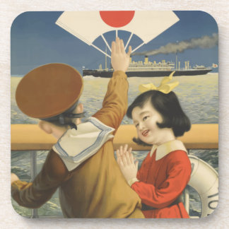 Vintage Travel Japan Coaster