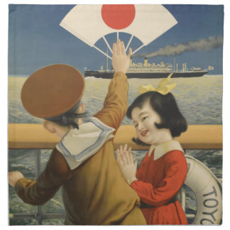 Vintage Travel Japan Napkin