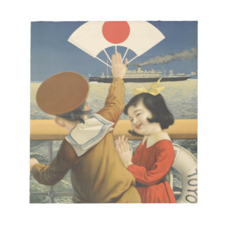 Vintage Travel Japan Notepad