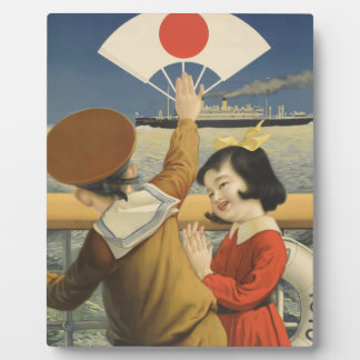 Vintage Travel Japan Plaque