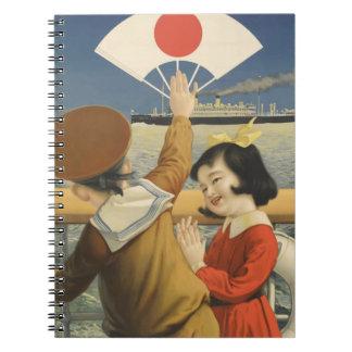 Vintage Travel Japan Spiral Notebook