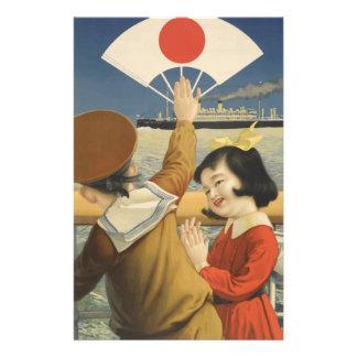 Vintage Travel Japan Stationery