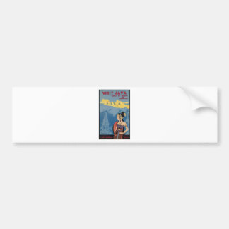 Vintage Travel Java Indonesia Bumper Sticker