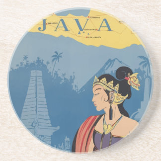 Vintage Travel Java Indonesia Coaster