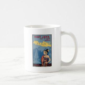 Vintage Travel Java Indonesia Coffee Mug