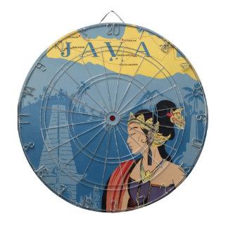 Vintage Travel Java Indonesia Dartboard