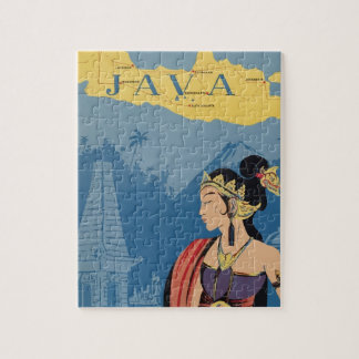 Vintage Travel Java Indonesia Jigsaw Puzzle