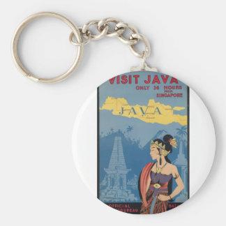 Vintage Travel Java Indonesia Key Ring