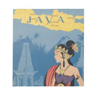 Vintage Travel Java Indonesia Notepad