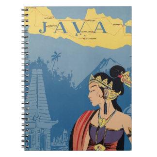 Vintage Travel Java Indonesia Spiral Notebook