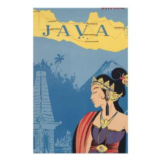 Vintage Travel Java Indonesia Stationery