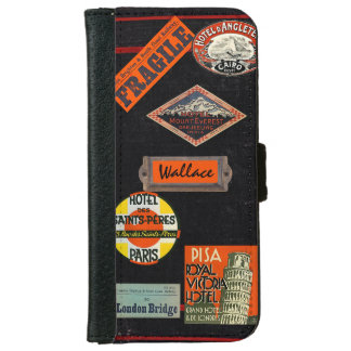Vintage Travel Journal iPhone 6 Wallet Case