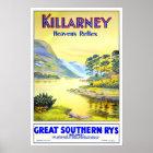 Vintage travel,Killarney Poster