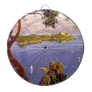 Vintage Travel Lake Garda Italy 1924 Dartboard