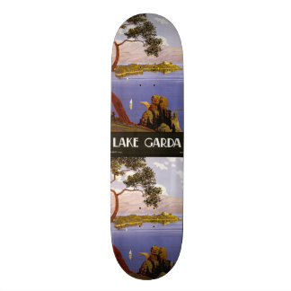 Vintage Travel Lake Garda Italy skateboards
