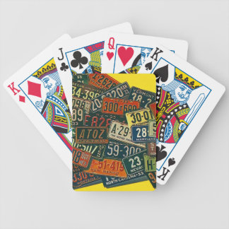 Vintage Travel License Plates Poker Playing Cards
