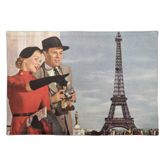 Vintage Travel - Lovers in Paris Placemat