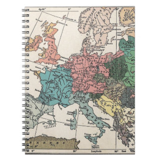 Vintage Travel Map Notebooks