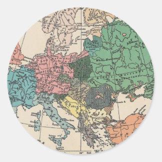 Vintage Travel Map Round Sticker