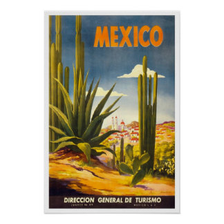 Vintage travel Mexico Posters