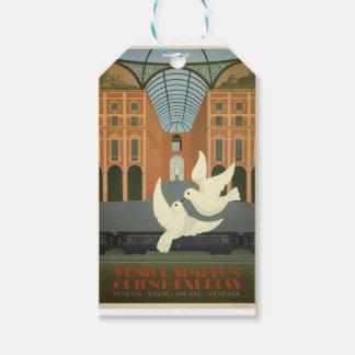 Vintage Travel Milan Orient Express Gift Tags