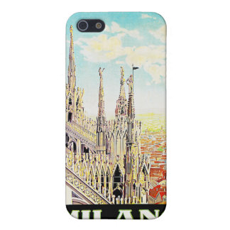 Vintage Travel Milano, Italy Covers For iPhone 5