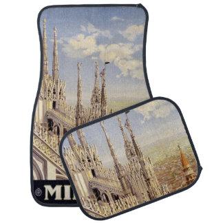 Vintage Travel Milano Milan Italy car floor mats Floor Mat