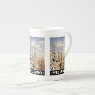 Vintage Travel Milano Milan Italy mugs