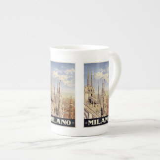 Vintage Travel Milano Milan Italy mugs Bone China Mug