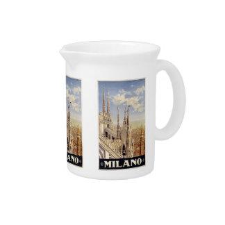 Vintage Travel Milano Milan Italy pitcher