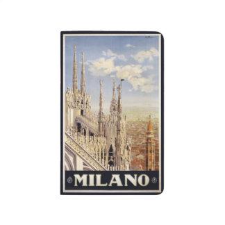 Vintage Travel Milano Milan Italy pocket journal