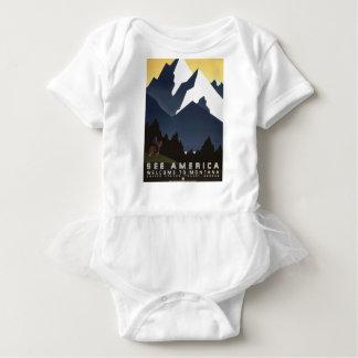 Vintage Travel Montana America USA Baby Bodysuit