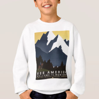 Vintage Travel Montana America USA Sweatshirt